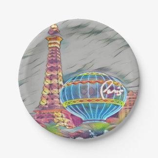 paris, france paper plate