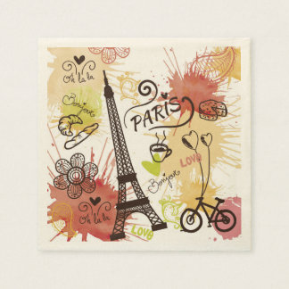 Paris, France Paper Serviettes