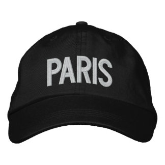 Paris France Personalized Adjustable Hat Embroidered Baseball Cap
