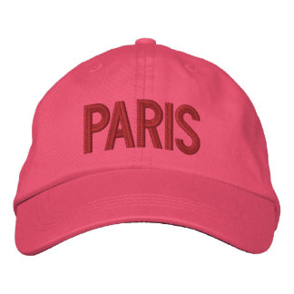 Paris France Personalized Adjustable Hat Embroidered Cap