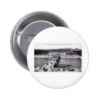 Paris France Place de la Concorde 1910 Vintage Pinback Buttons