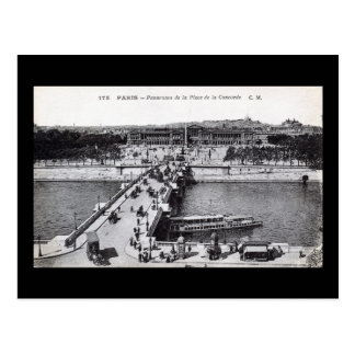 Paris, France Place de la Concorde 1910 Vintage Postcard