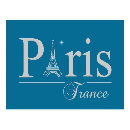 Paris France postcard, customize