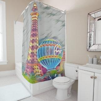 paris, france shower curtain