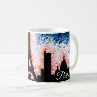 Paris France Silhouette Coffee Mug