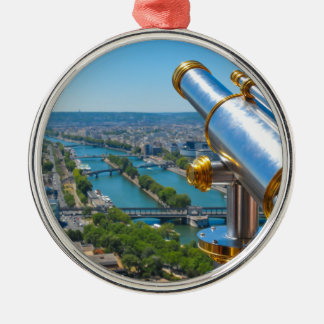 Paris, France Silver-Colored Round Decoration