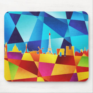 Paris France Skyline Cityscape Mouse Pad