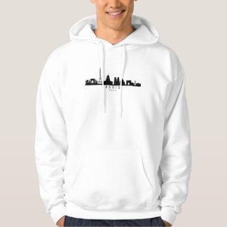 Paris France Skyline Hoodie
