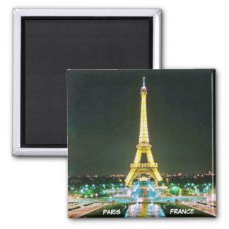 PARIS, FRANCE SQUARE MAGNET