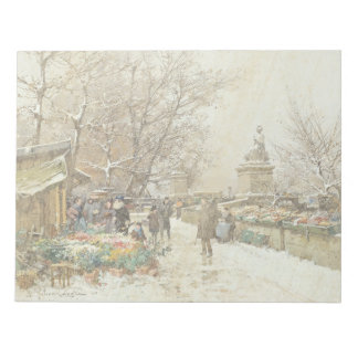Paris France Street Flower Sellers Note Pad
