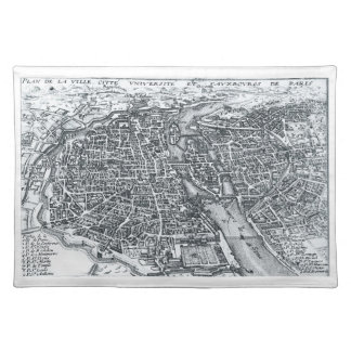 Paris, France Street Map Placemat
