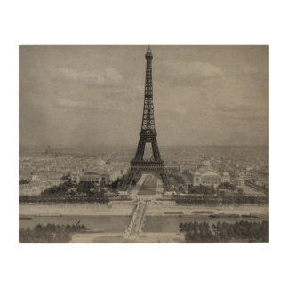 Paris,France: view of Eiffel tower Wood Canvases