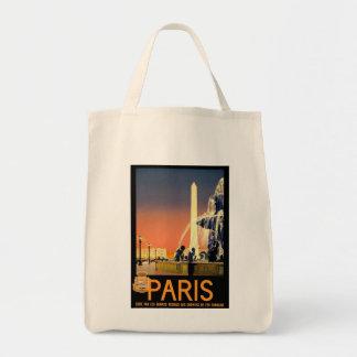 Paris France Vintage Canvas Bags