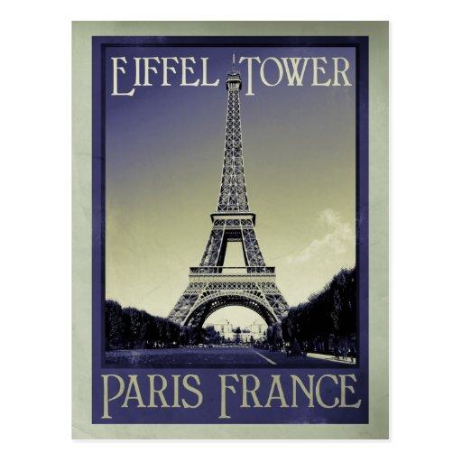 paris france vintage look post cards