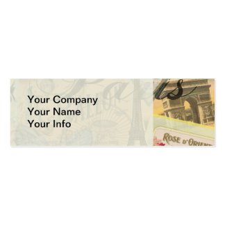 Paris France Vintage Travel Collage Double-Sided Mini Business Cards (Pack Of 20)