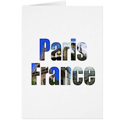 Paris France with tourist attractions Greeting Cards