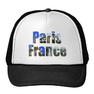 Paris France with tourist attractions Hats
