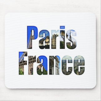 Paris France with tourist attractions Mousepad