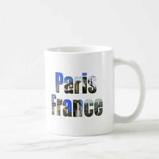 Paris France with tourist attractions Coffee Mug