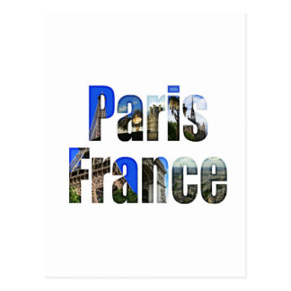 Paris France with tourist attractions Postcard