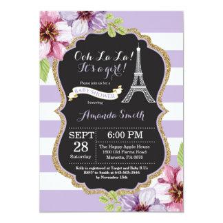 Paris French Eiffel Tower Baby Shower Invitation