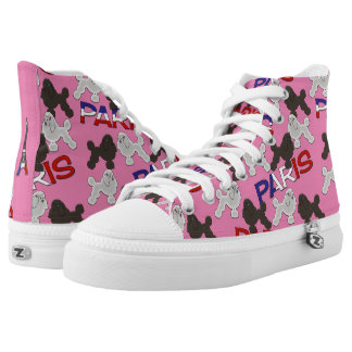 Paris French Poodles Pink High Tops