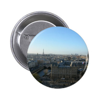 Paris from Notre-Dame Pinback Buttons
