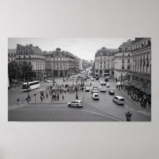 Paris from the Opera Garnier Poster