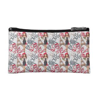 Paris Girl Bonjour Illustration Cosmetic Bag