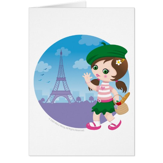 Paris girl card