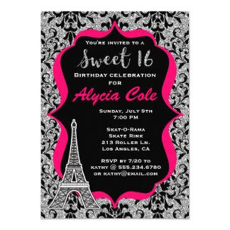 Paris Glam Sweet Sixteen Birthday Party Invitation