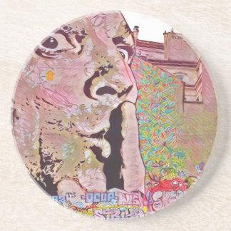 Paris graffiti Pomipidou Museum Drink Coaster