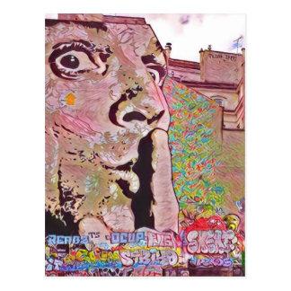 Paris graffiti Pomipidou Museum Postcard