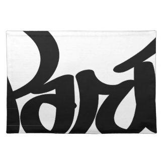 paris graffiti tag placemat