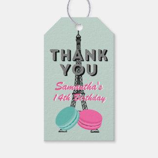 Paris Happy Birthday Thank You Gift Tag