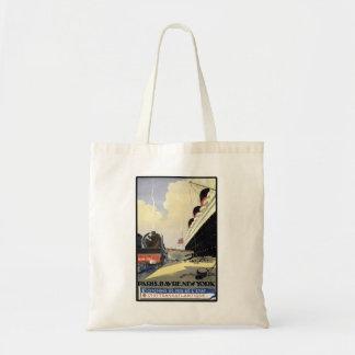 Paris Havre New York Canvas Bags