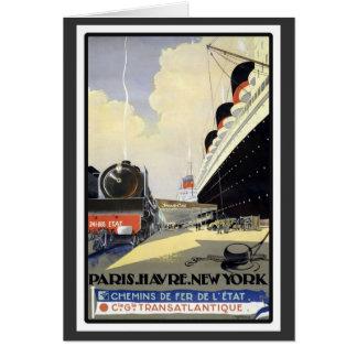 Paris Havre New York Card