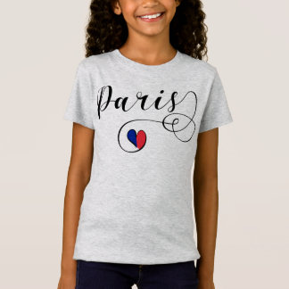 Paris Heart Tee Shirt, France