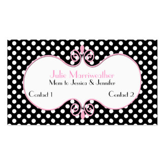 Paris High Fashion Mummy Calling Card Pack Of Standard Business Cards