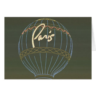Paris Hot Air Balloon Card