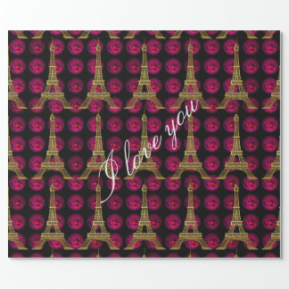 Paris Hot Villa  Elegant Customize Wrapping Paper