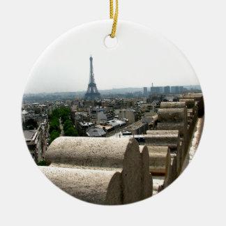 Paris I Double-Sided Ceramic Round Christmas Ornament