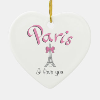 Paris I love you Ceramic Heart Decoration
