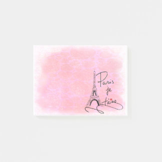Paris I Love You Pink PXLY Post-it Notes