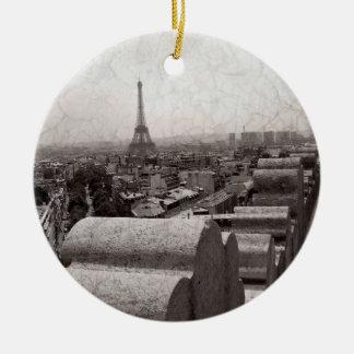 Paris II Round Ceramic Decoration