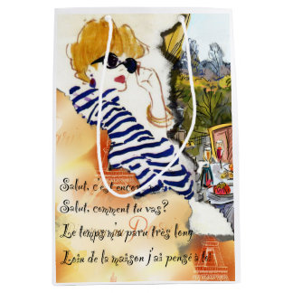 Paris illustration Gift Bag