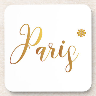 Paris-in-Gold-with-Flower Coaster