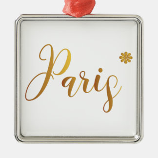Paris-in-Gold-with-Flower Metal Ornament