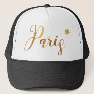 Paris-in-Gold-with-Flower Trucker Hat