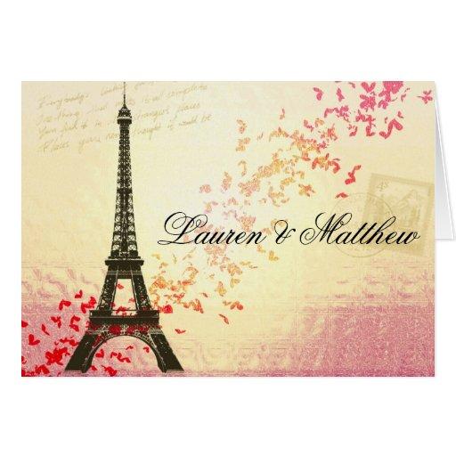 Paris in Love - Eiffel Tower Card